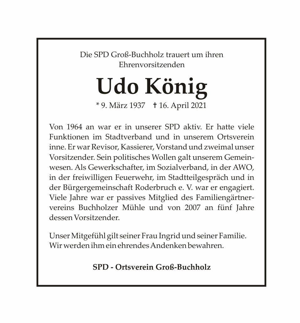 Trauer Udo König